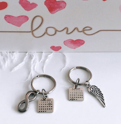 Personalized Calendar Keychains