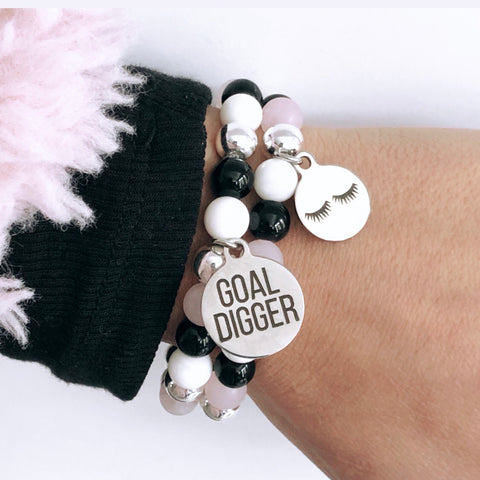 **PROMO**GOAL DIGGER and Too Glam Charm Bracelets