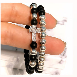 Cross Gemstone Bracelet