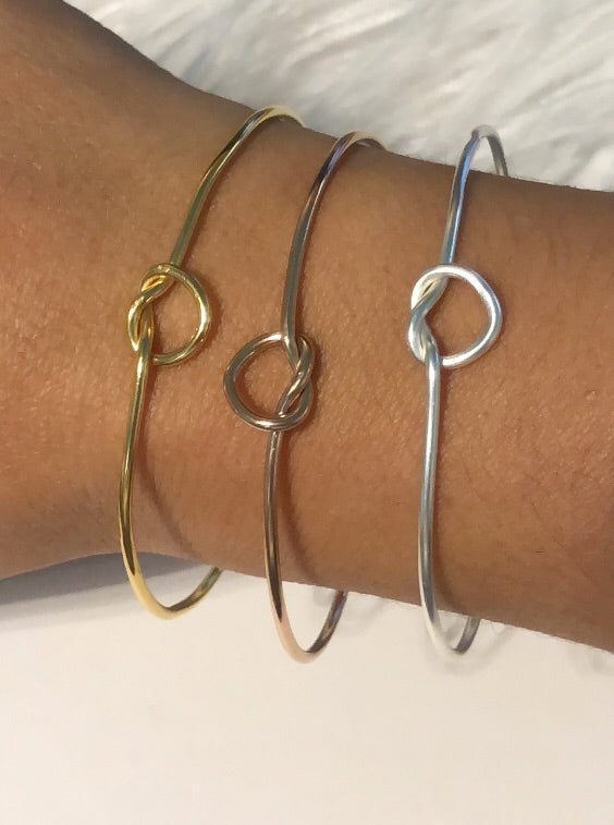Knot Bangles - Thank you for helping me tie the knot -