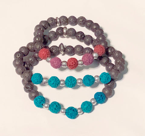 Children's Lava Bead Bracelets
