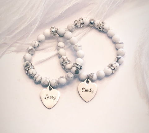 Flower Girl Personalized Bracelets