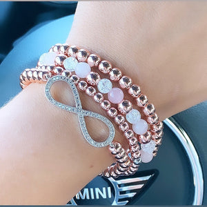 Sparkly Pink Infinity Stack