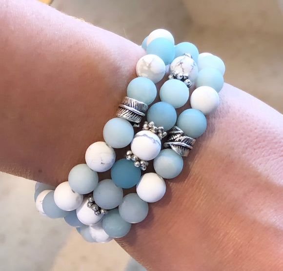 Soothing and Calming African Amazonite and White Howlite