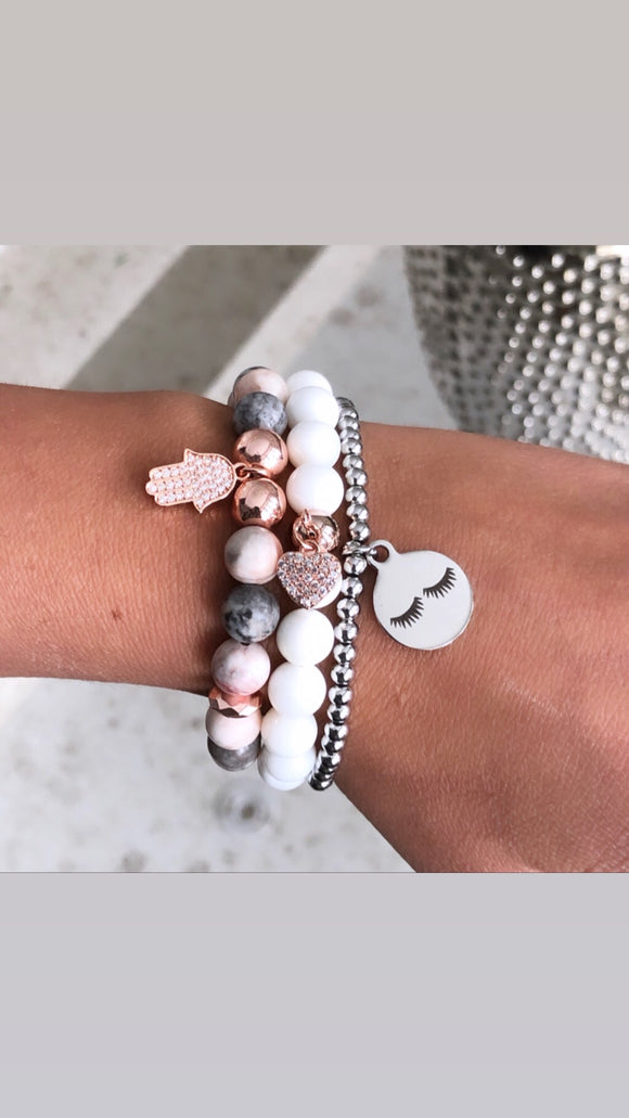 Too Glam set of 3 bracelets and 3 charms- Sold Separately or as a stack