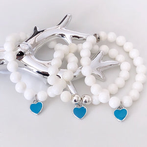 Tiffany Blue Heart Charm Bracelet
