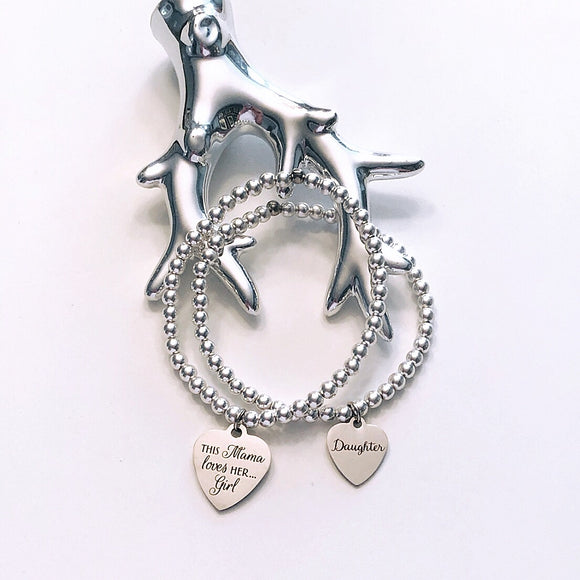 This momma loves her girl charm bracelet