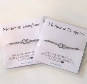 Friendship / Mother Daughter /Mother Son / Couples Interlocking Bracelets