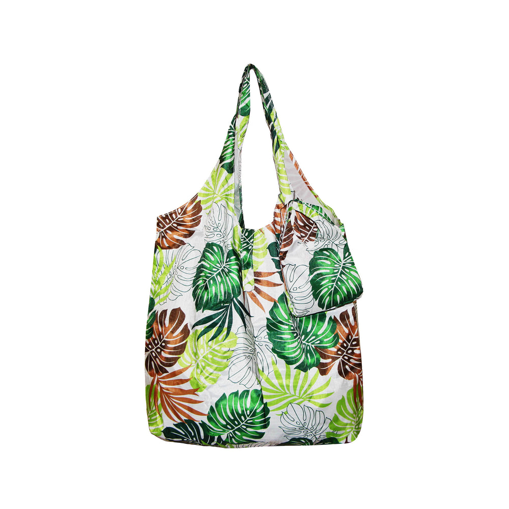 Foldable Reusable Shopping Bags LEAF - PINK / GREEN / BLUE