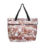 Beach Tote Bag ISLAND VINTAGE - BLUE / BROWN