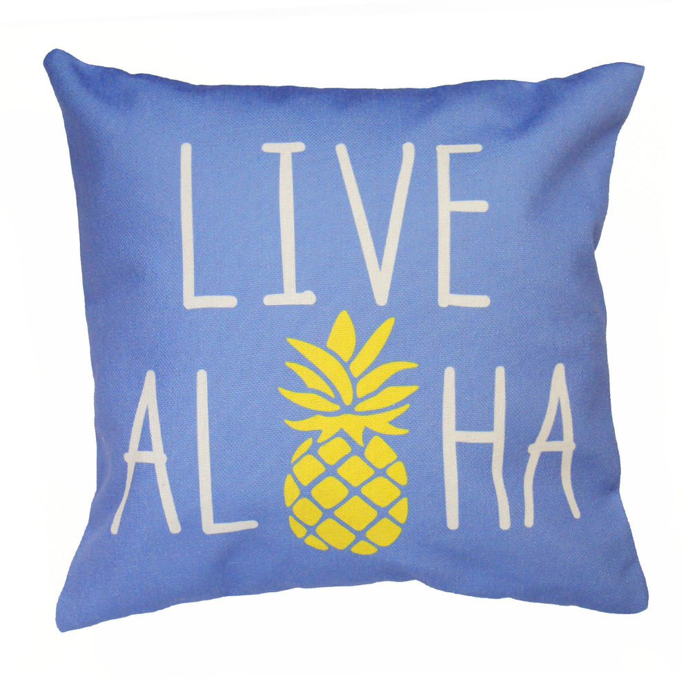 Pillow Cover: LIVE ALOHA