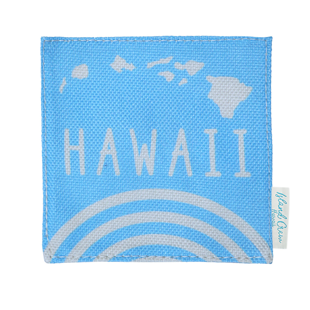 WOVEN COASTER: RAINBOW HAWAII - 4 PCS SET