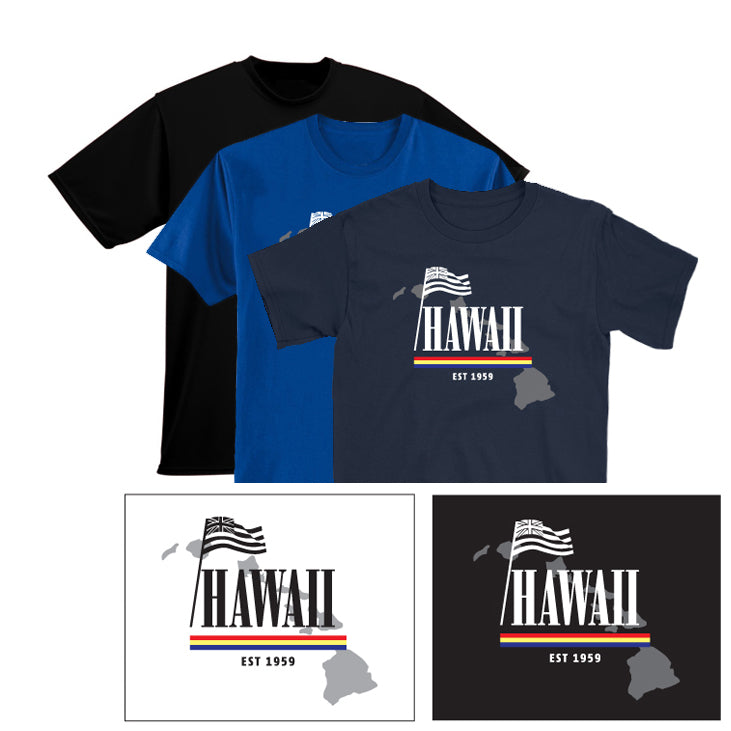 HAWAII FLAG Graphic T-shirt