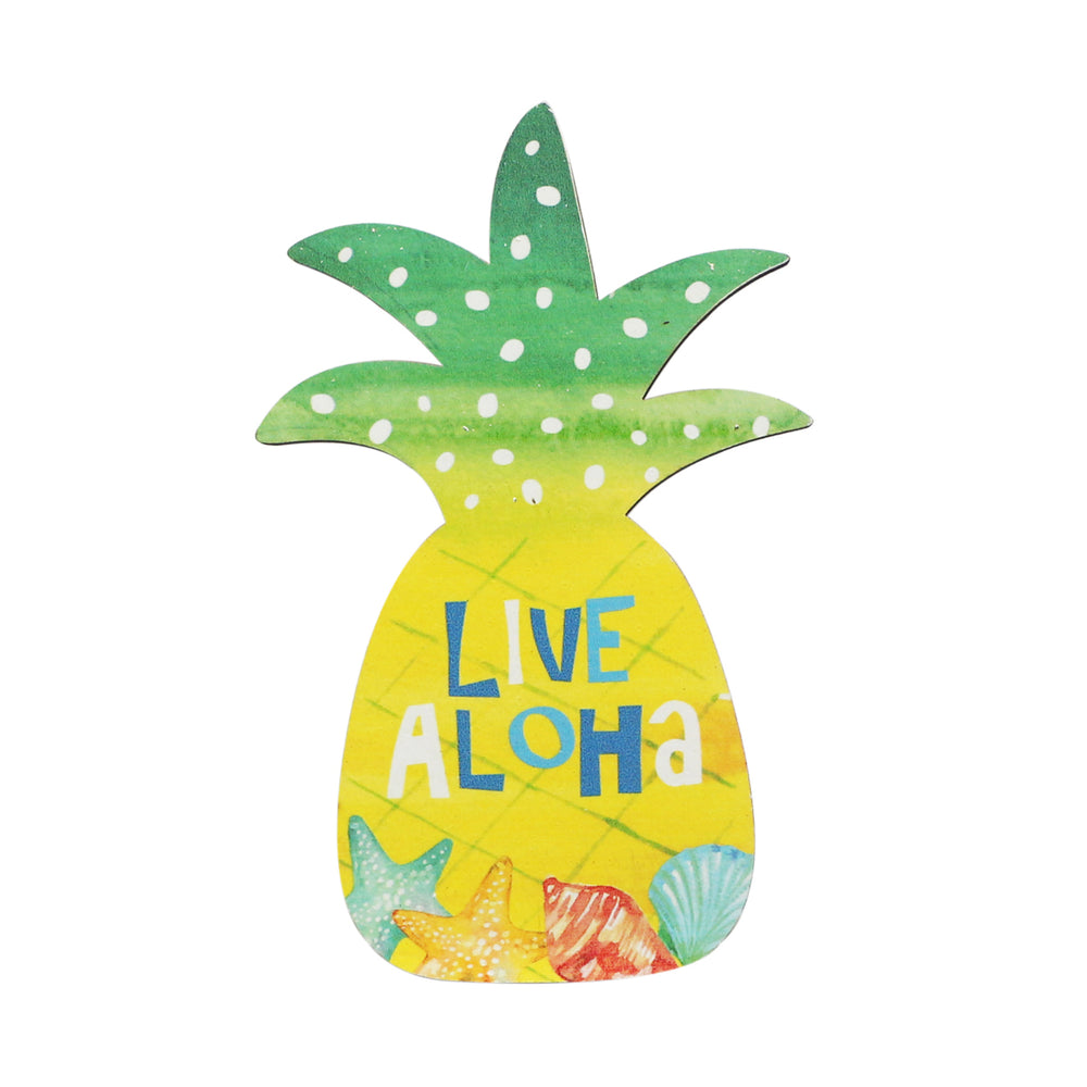 WOODEN SIGN - PINEAPPLE - LIVE ALOHA