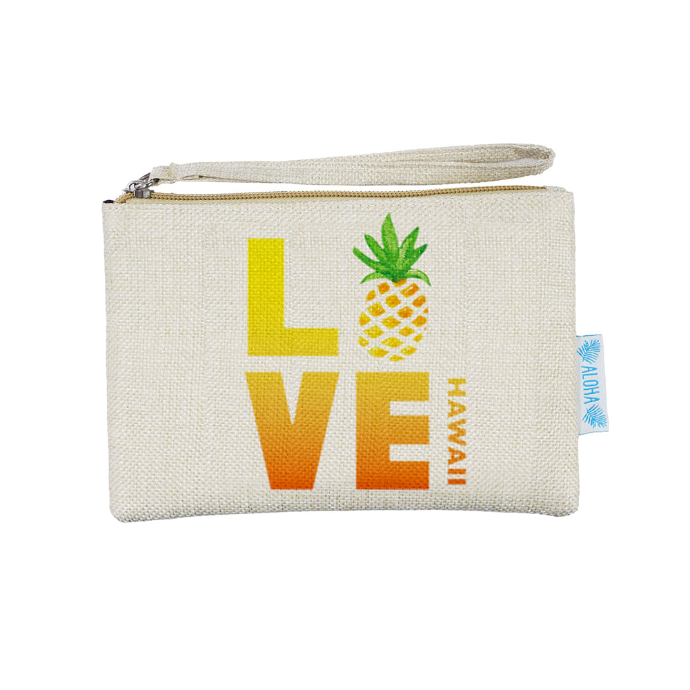 WOVEN POUCH - LOVE PINEAPPLE