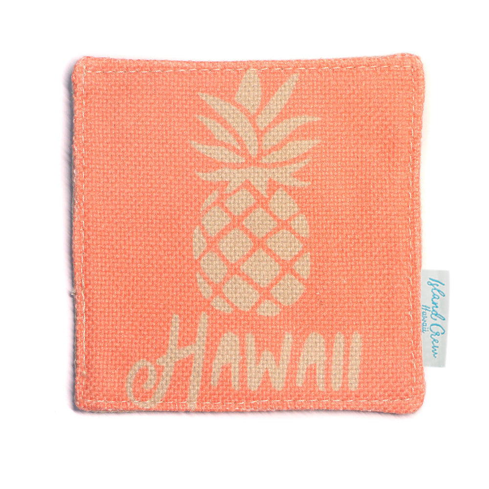 WOVEN COASTER: PINEAPPLE HAWAII - 4 PCS SET