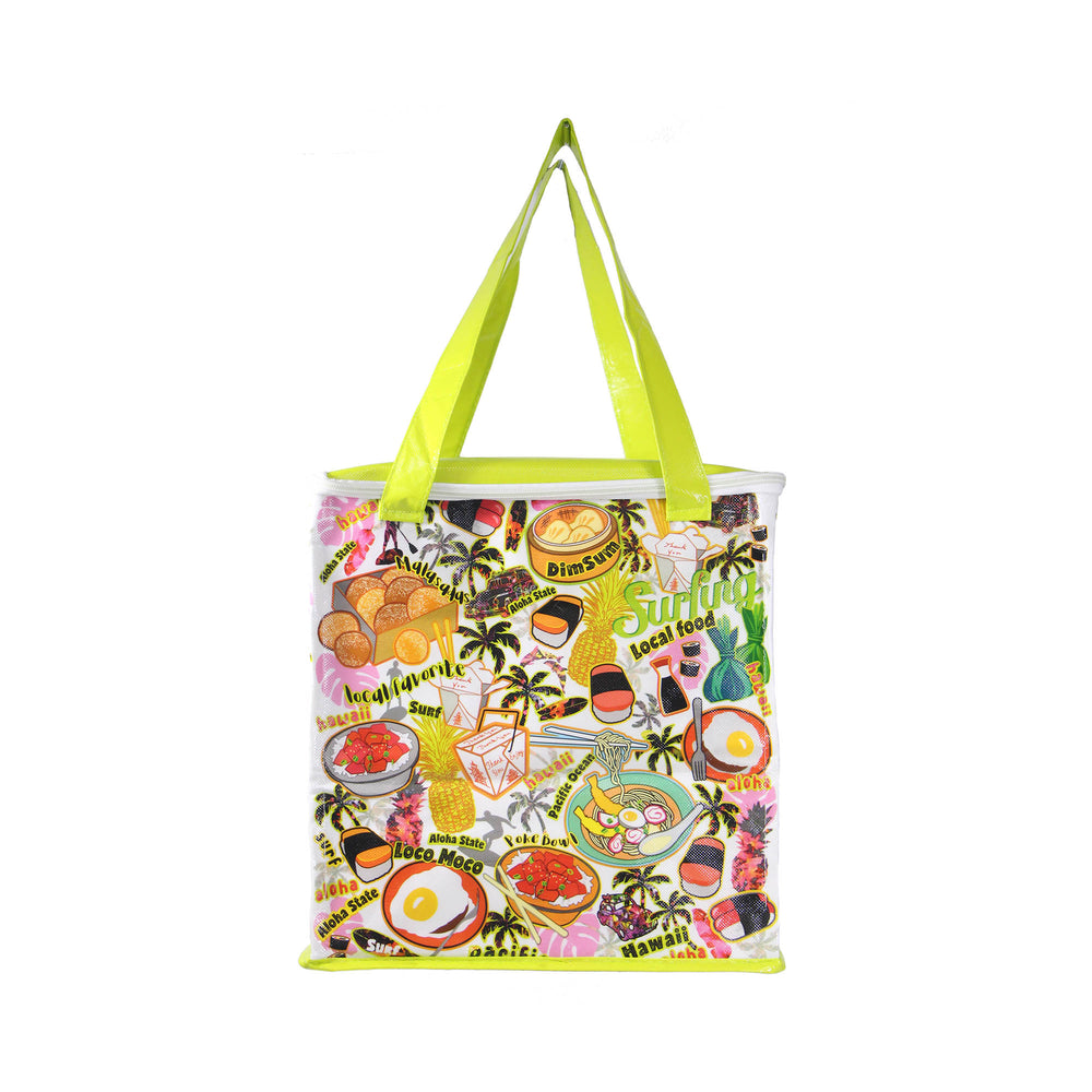 NON-WOVEN COOLER BAG - KAUKAU TIME - GREEN