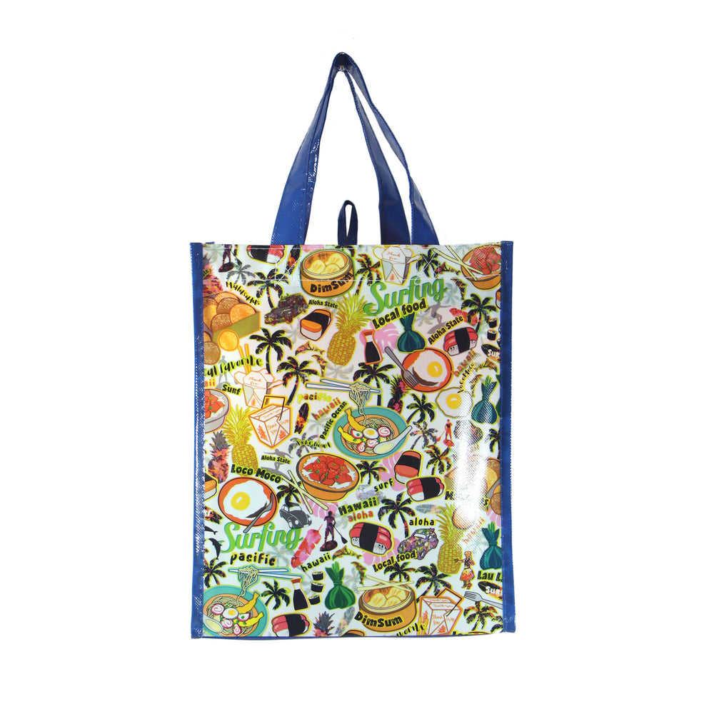 Reusable NON-WOVEN BAG - LOCAL FOOD [SMALL] - BLUE