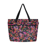Beach Tote Bag PINEAPPLE - BLACK