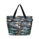 Beach Tote Bag SURFER - BLACK / MULTI