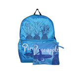 Hawaii Foldable Backpack PINEAPPLE ALOHA - HPINK / AQUA / GREEN / BLUE / LPINK
