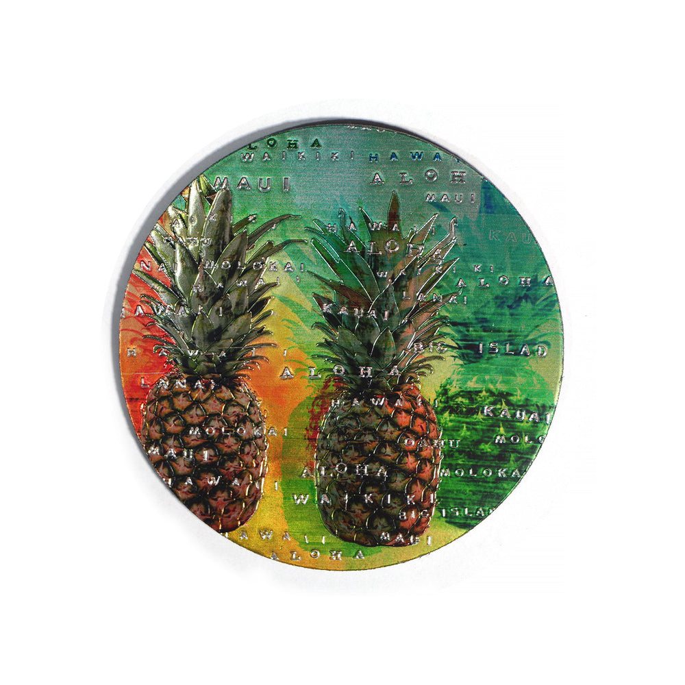 Magnet: HAWAII COASTER - PINEAPPLE ISLAND [6PCS Set]