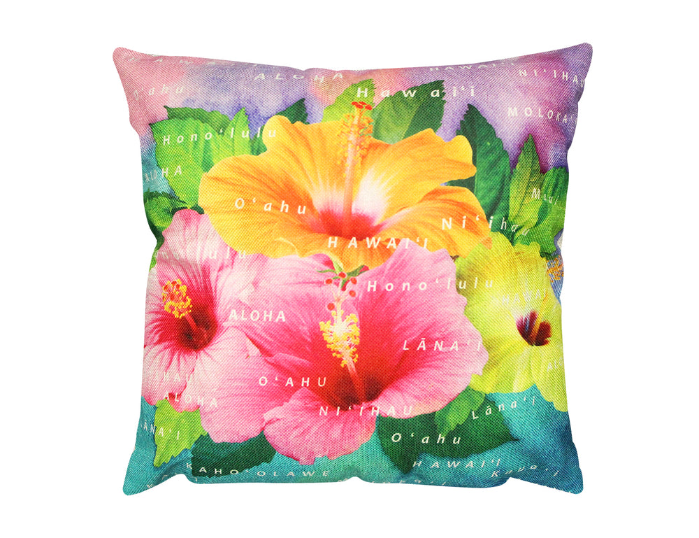 Pillow Cover: HIBISCUS ISLANDS