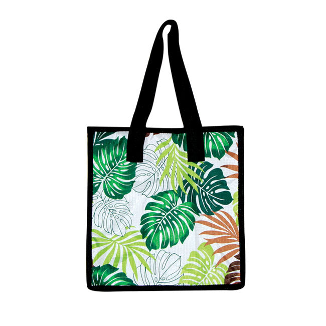 Small Cooler Bag - LEAF - GREEN / PINK