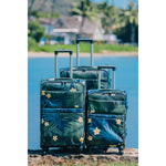 LUGGAGE BAG : PALM PARADE - BLACK - 3PCS SET