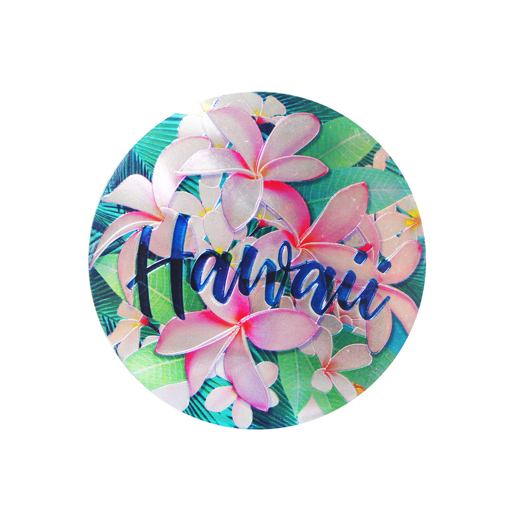 Magnet: HAWAII COASTER - PLUMERIA [6PCS Set]