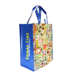 Reusable NON-WOVEN BAG - LOCAL FOOD [LARGE] - GREEN / BLUE