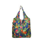Foldable Reusable Shopping bag BANQUET - BEIGE / NAVY