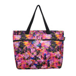 Beach Tote Bag SUNSET PALMS - PINK