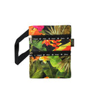 TROPICAL GARDEN Passport bag HAWAII - BLACK / AQUA