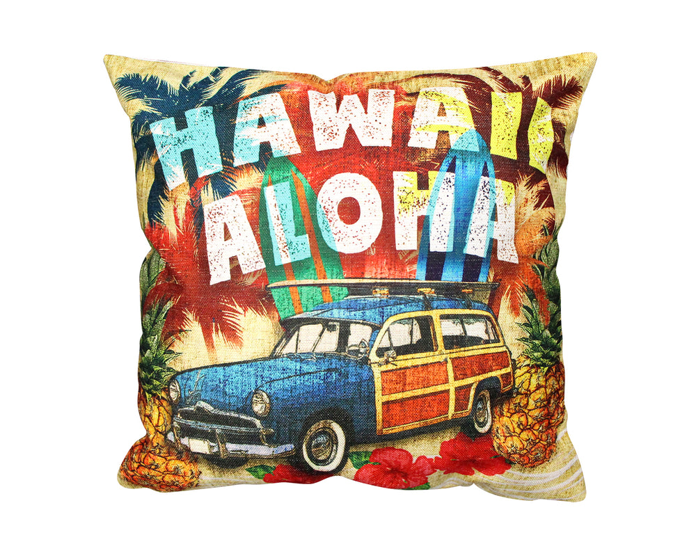 Pillow Cover: VOLKS ALOHA HAWAII