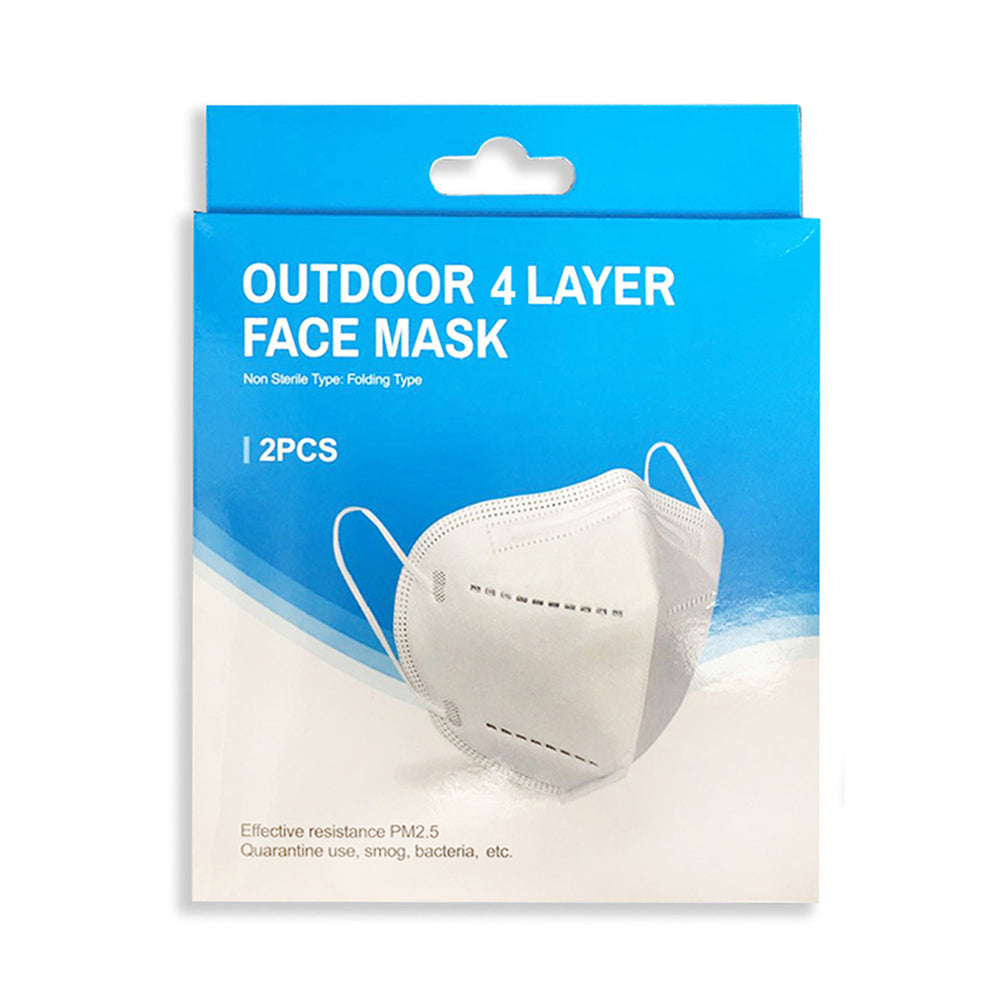 FACE MASK - 4 LAYER - 2PCS SET - 5 SET(10PCS)