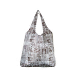 Foldable Reusable Shopping bag VINTAGE TAPA - BLUE / BROWN / RED