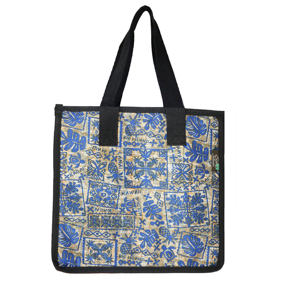 Large Cooler Bag - QUILT TIME - BLUE / YELLOW
