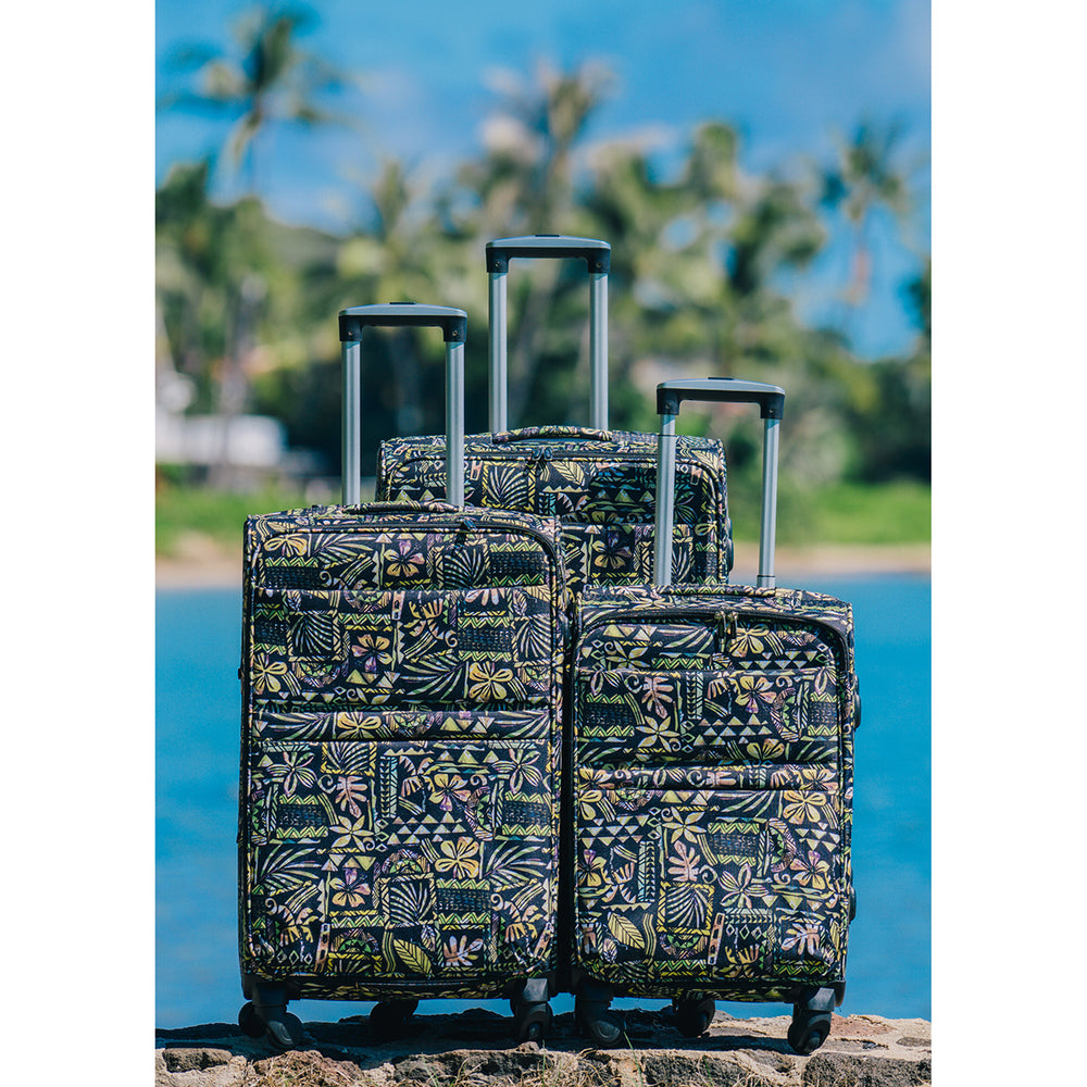 LUGGAGE BAG : TAPA BLOCK-BLACK  - 3PCS SET