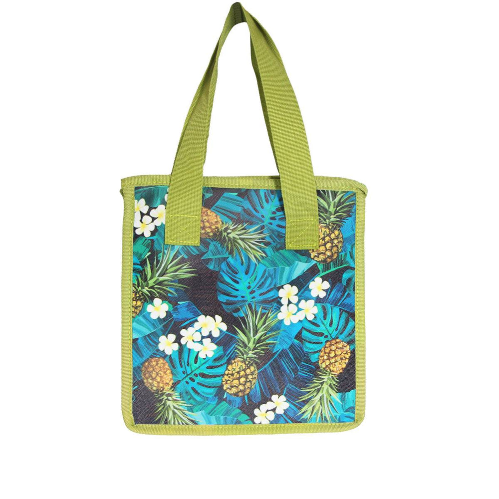 Small Insulated Cooler Bag - MONSTERA PINEAPPLE