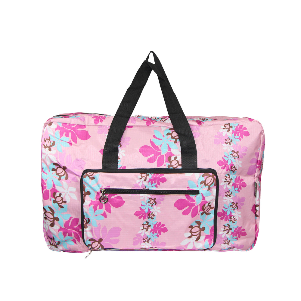 FOLDABLE Travel Bag Series HONU W / LEAF - PINK