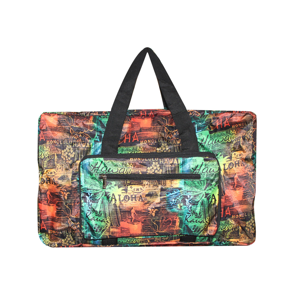 FOLDABLE Travel Bag Series SURFER - BLACK / MULTI