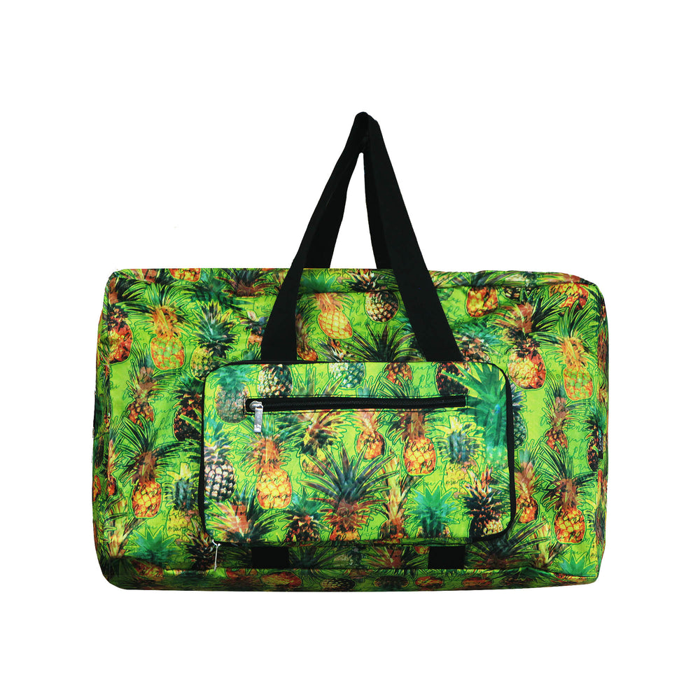 FOLDABLE Travel Bag Series PINEAPPLE PARADISE - GREEN