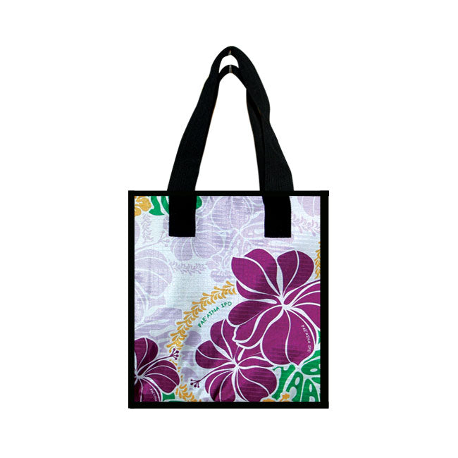 Small Cooler Bag - HIBISCUS W/ MONSTERA - PURPLE