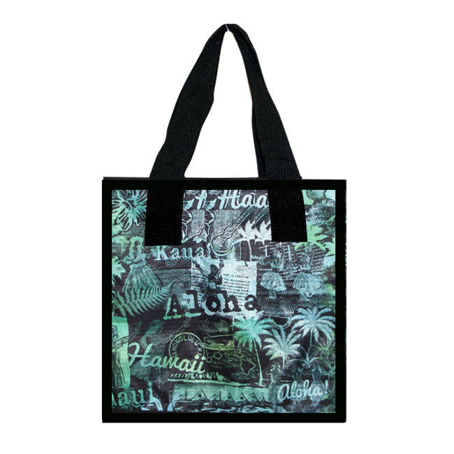 Large Cooler Bag - HULA GIRL - BL-GR / OR-YE