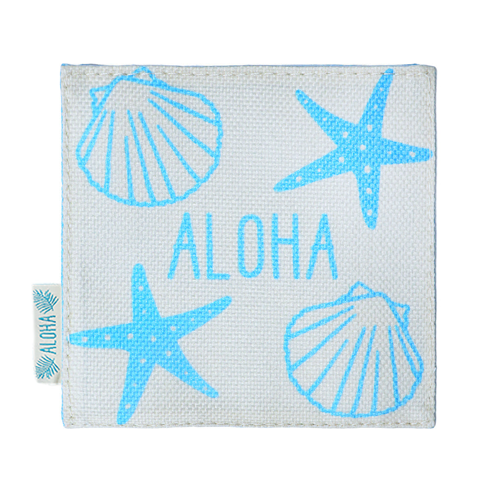 WOVEN COASTER: SEASHELL ALOHA - 4 PCS SET