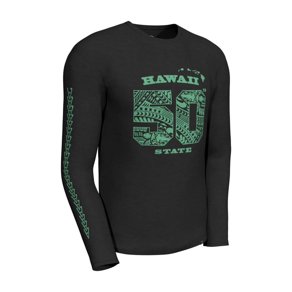 Cool T-Shirt Long Sleeves: HAWAII 50TH STATE