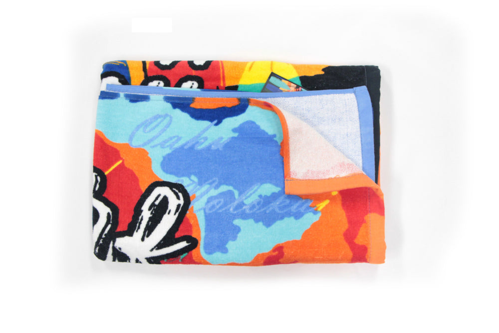 Beach Towel: SUNSET SURF HAWAII
