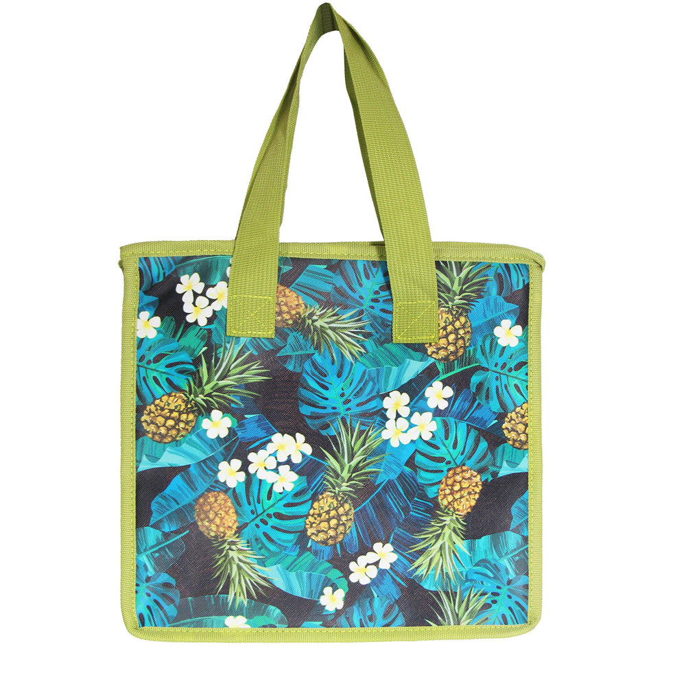 Large Insulated Picnic Bag - MONSTERA PINEAPPLE