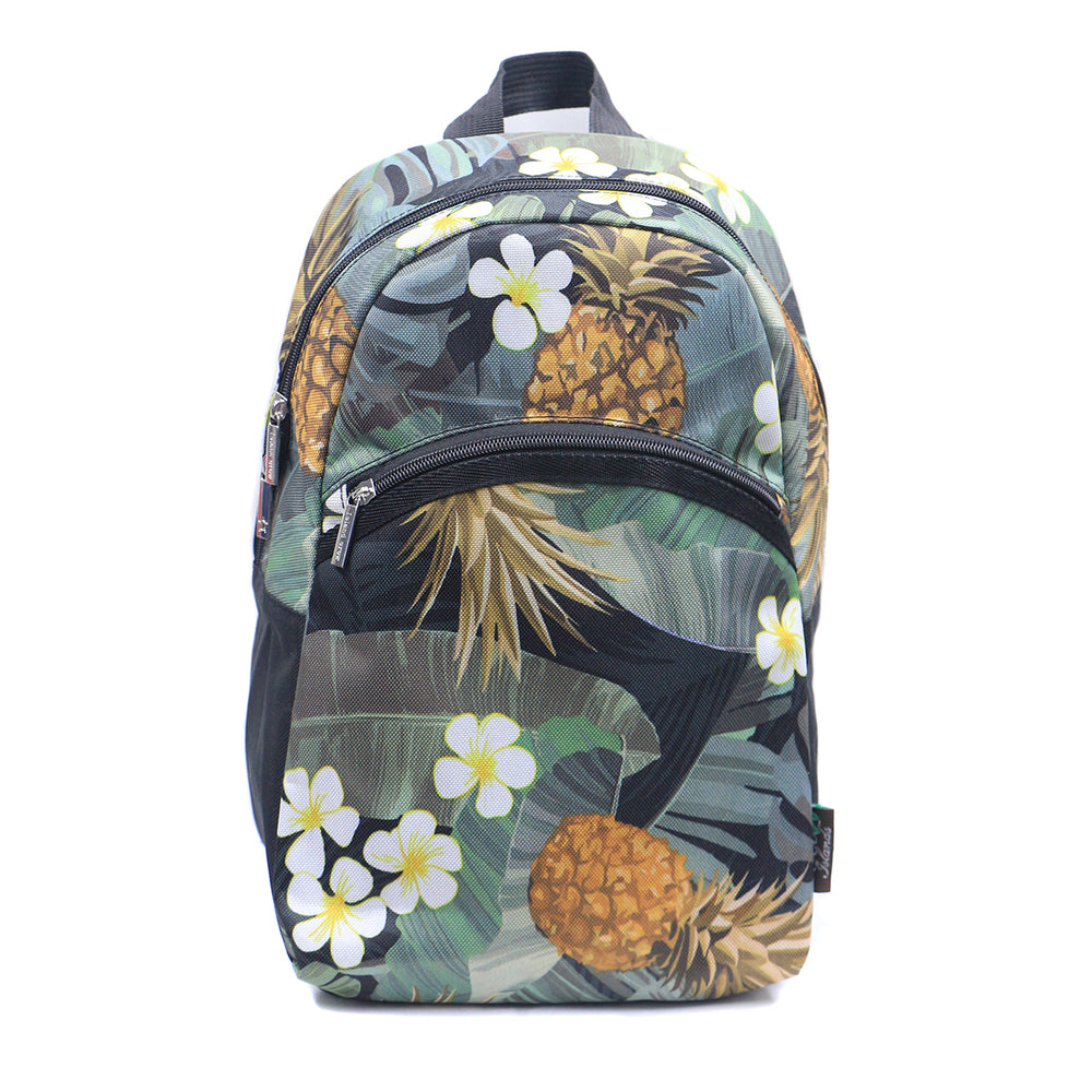MINI BACKPACK SERIES - MONSTERA PINEAPPLE - BLACK